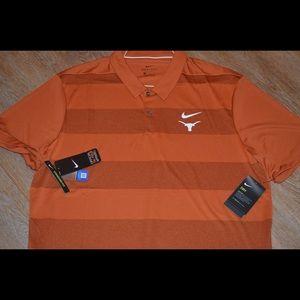 Nike Texas Longhorns Burnt Orange Dri Fit Polo NWT